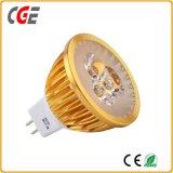 GU10 LEDのスポットライトの球根ライト3W