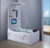 1600mm esquina del rectángulo bañera de masaje SPA con el CE RoHS y cabina de ducha (AT-0731)