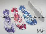 Flops Flip женщин с хорошими ценами, подгонянными тапочками PVC, поставщиком сандалий Китая (FFLT1017-02)