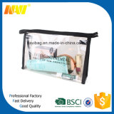 Bolsa de cosmética transparente de vinilo de PVC transparente
