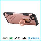 Caja híbrida a prueba de choques del teléfono del soporte del anillo para el iPhone 6 7 más