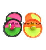 Capretti e sfera della pala del Velcro & gioco adulti di scossa impostato con i guanti mezzi della pinsa grandi per divertimento di quattro stagioni