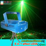 Mini fase del partito della discoteca del laser che illumina sei in un controllo del suono di effetto