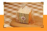 Kundenspezifisches Papierverpacken- der Lebensmitteltellersegment für Brot /Snack/Sandwich