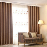 Estilo moderno 3D que graba la tela sólida de la cortina de ventana del apagón