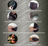 Schwarze echtes Leder-heiße Verkaufs-Glanzleder-Polizei-Büro-Schuhe