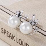 925 Sterlingsilber-Ohrring-Entwürfe für Mädchen-Schmucksache-runde Form-Perlen-Stift-Ohrringe