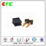 contact de connecteur de remplissage de batterie du ressort 2pin avec la bobine de chapeau