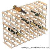 Soporte de visualización de madera tradicional con el estante de acero galvanizado del almacenaje del vino