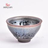 Teacup cerâmico da argila da bacia do chá do esmalte de Tianmu da porcelana de Dehua