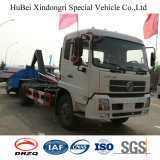 10cbm Dongeng 유로 4 훅 팔 유형 Wastebin 건너뜀 드는 쓰레기 트럭