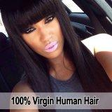 A peruca indiana reta de seda do cabelo humano do Virgin/ata completamente a peruca/peruca dianteira do laço
