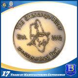 античная бронзовая выдвиженческая монетка 3D с краем веревочки (Ele-C050)