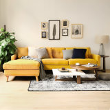 Sofà sezionale giapponese semplice moderno del tessuto del sofà dell'angolo del salone della mobilia