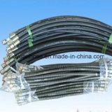 Umsponnener flexibler Schlauch-Erdöl-Schmieröl-Schlauch der doppelten Faser-SAE100r3