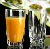 Cristalleria, tazze di vetro della spremuta, tazze di vetro dell'acqua per il ristorante o casa