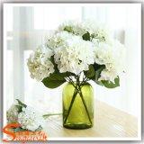 Flor do Hydrangea da seda artificial para o casamento ou a decoração do restaurante