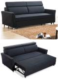 Faltendes Sofa drei mit Bett mit justierbaren Kopfstützen