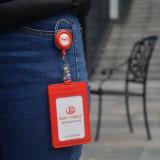 Держатель визитной карточки PU держателя значка удостоверения личности цены Manufactory