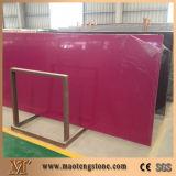 Laje artificial de quartzo de quartzo cor-de-rosa da cor