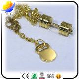 Цепь золотистого металла формы Barbell ключевая