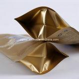 بلاستيكيّة [بت فوود] يعبّئ حقيبة مع سحاب