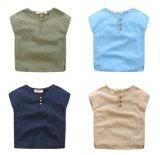 4 van de kleur de Katoenen Sleeveless Jonge geitjes die van het Linnen & de Overhemden van de Jongen kleden