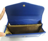Beautiful Lady' S Wallet with Shiny PU Leather/Blue Color Wallet