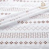 Tela do laço do vestido do verão das senhoras do algodão da forma H10012