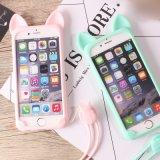 Leuke Kat Zachte TPU met het Geval van de Telefoon Layard voor iPhone