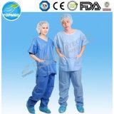Caldo! Uniforme a gettare non tessuta dell'ospedale, abito del paziente dei vestiti dell'ospedale