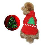 Perro que arropa la ropa del animal doméstico de 2017 nuevos productos para el perro con el LED