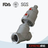 Acier inoxydable Pplastic pneumatique Angle Seat Control Valve (JN-STV1002)