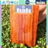 Revestimento de madeira do pó da transferência térmica da grão 3D do poliéster Epoxy de Hsinda