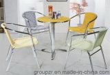 PE 등나무 + 알루미늄 관 정원 여가 의자