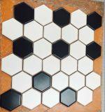 Azulejos 2017 de mosaico de cerámica hexagonales de la vendimia con el hielo del crujido de cerámica