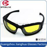 影響が大きい様式の戦術的なサングラスの抵抗によってパッドを入れられるオートバイの接眼レンズの警察の人の方法