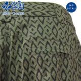 Il rayon allentato verde mette in mostra i pantaloni di svago del plaid del tasto
