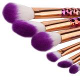 2017 Nuevo 6PCS coloreó el cepillo del maquillaje de la etiqueta privada del diamante