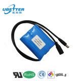 O bloco recarregável da bateria da bateria de íon de lítio 12V 2600mAh personalizou