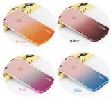 Blindaje antiradiación transparente del teléfono celular del iPhone de la PU del color suave negro del gradiente