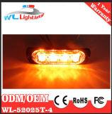極度の薄い24V 4 LEDのストロボのLightheadsの表面の台紙のストロボライト