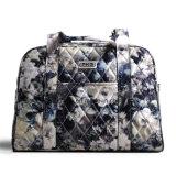 Sac portatif de bagage de sac de course de week-end de configuration de fleur de dames de modèle simple avec la courroie réglable d'épaule