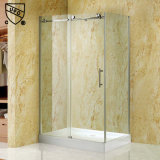 Gabinete de chuveiro deslizante para casa de alumínio com alça de aço inoxidável (K04)