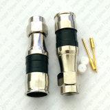방수 Rg11 압축 F male형 커넥터 RF 동축 케이블