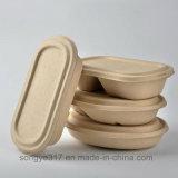 Caixa de almoço de papel descartável de primeira qualidade de 1000 Ml