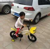 女の子のためのピンクの子供のバイク、トランペット、バスケットが付いている女の子の子供の自転車が付いている女の子の子供のバイク