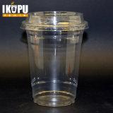 copos 16oz plásticos com o animal de estimação transparente elevado para beber frio