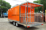 campista móvil largo Van de los 5.8m para la exportación de los E.E.U.U.