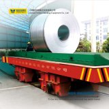 Bobina de acero de 15 toneladas que maneja el carro del acoplado con el dispositivo de seguridad